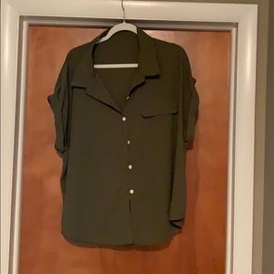 Brand new army green blouse